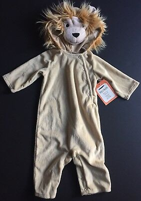 Pottery Barn Kids Baby Lion Costume Size 6-12 Months Halloween New One Piece Zoo