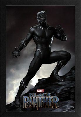 BLACK PANTHER MOUNTAIN TOP 13x19 FRAMED GELCOAT POSTER MARVEL COMICS MOVIE NEW!!