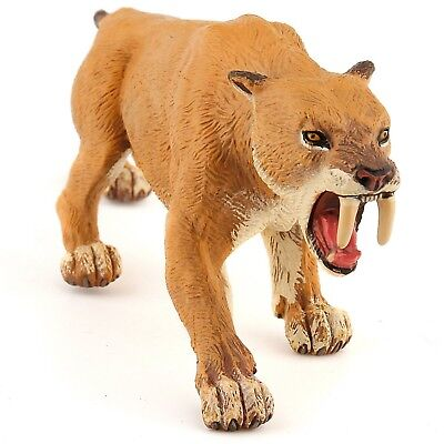 Papo Collectable Model Animal Toy - Smilodon Saber-toothed Tiger - Prehis... New