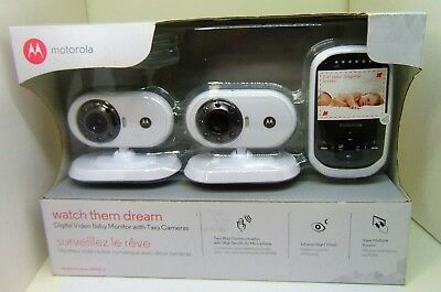 Motorola - MOTO-MBP25-2 Wireless Video Baby Monitor - White