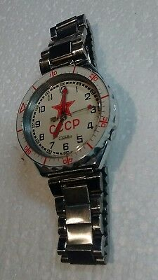 Ussr Soviet Russian Red Star Military Watch