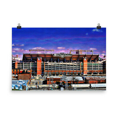 Raven Stadium, M and T, Baltimore, Md., Under Purple Skies, Museum Quality Po...