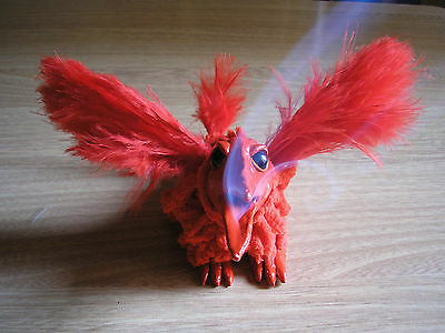 Quemador de incienso cono ave fuego hecho a mano / Fire bird incense cone burner