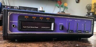 Rare Purple! Vintage JC Penney Stereo Model 1201 8-Track Player