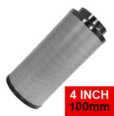 4 Inch / 100mm  Hydroponics Activated Carbon Filter HyFlo RC-412 Black Edition