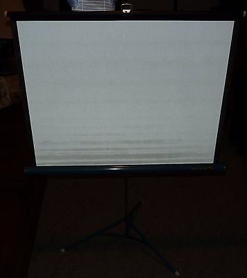 Vintage Da-Lite Flyer 40 x 30 Projector Screen W/Box Excellent Used