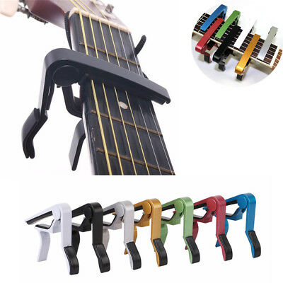Aluminium Alloy Musical Tool Tune Quick Change Clamp Key Acoustic Guitar Capo