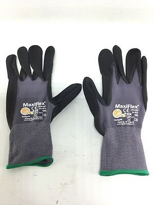 PIP 34-874 MaxiFlex Ultimate Nitrile Micro-Foam Coated Gloves Size 8(M) 12 pair