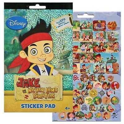 Disney Jake and the Never Land Pirates 4 Sticker Sheets Over 270 Stickers New