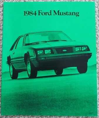 1984 Ford Mustang SVO GT Turbo LX Convertible Sales Brochure