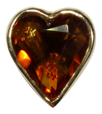 Antique Victorian 14K Gold Citrine Heart Stick Pin (RL1801AA)