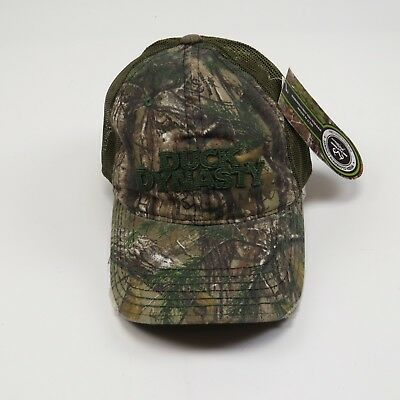 818beb7c9bfa5 REALTREE DUCK DYNASTY Camo Outdoor Baseball Cap Hat Lot 2 Happy Hey ...
