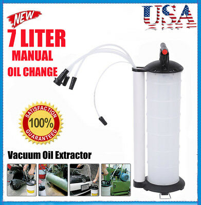 70-170PSI Vacuum Oil Fluid Extractor 7L Manual Fuel Petrol Syphon Pump Transfer@