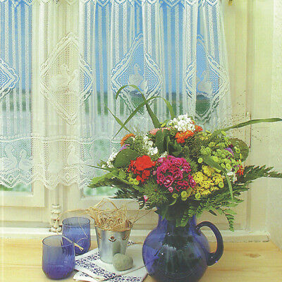 Window Lace Curtain Voile Net Curtains Tier Curtain Half Valance Blind #6
