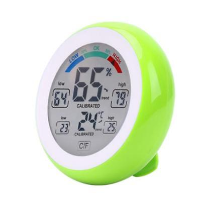 Digital Indoor Thermometer Hygrometer Gauge Temperature Humidity Meter Green