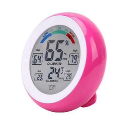 Digital Indoor Thermometer Hygrometer Gauge Temperature Humidity Meter Pink