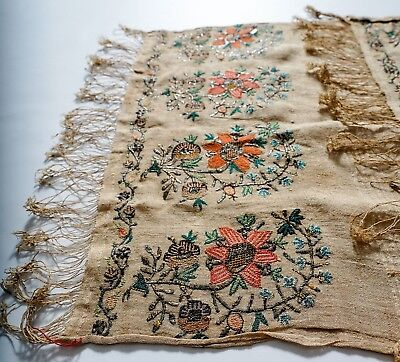 Antique 18Th Century Ottoman Turkish Armenian Greek Yaglik Embroidery Textile