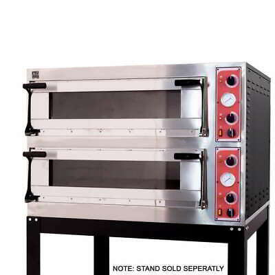 Italian Made Commercial 6 Series Twin Deck/Pizza Electric Oven With Stone Bases
