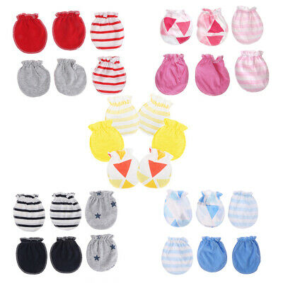 Baby Anti Scratching Gloves Newborn Protection Face Cotton Scratch Mittens 3Pair