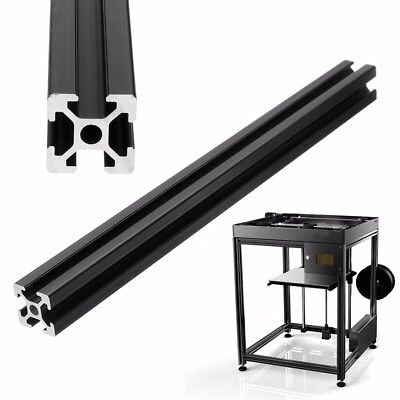 2020 T-Slot Aluminum Profiles Extrusion Frame For 3D Printer 250/300/600mm Black