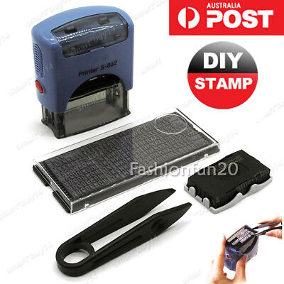 Personalised Self Inking Rubber Stamps Kit Custom Business Name Address DIY W