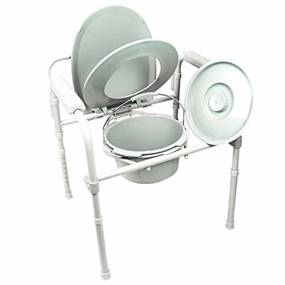 Commode by Vive - Bedside Commode for Seniors, Handicap, Portable, Lightweight