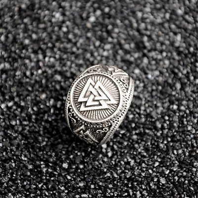 Norse Viking Warriors Valknut Odin' s Symbol Ring Scandinavn silver Rings Punk