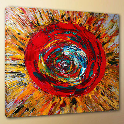 Modern HD Print Red Swirls Home Art Wall Decoration Painting on Canvas 16x16