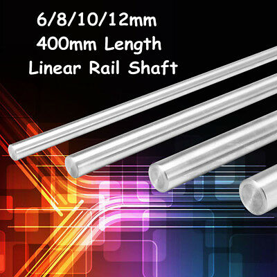400mm 6/8/10/12mm CNC 3D Printer Axis Chromed Smooth Rod Steel Linear Rail Shaft