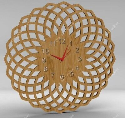 Nice clock design DXF and EPS File For CNC Plasma, Router, laser (C27)