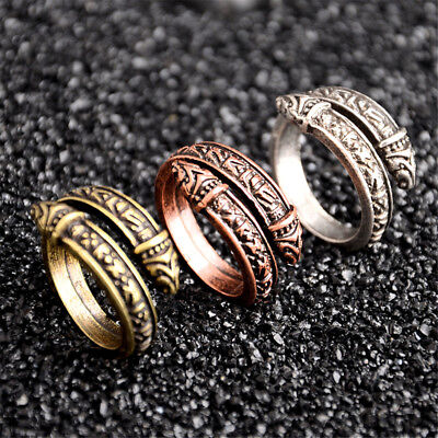 Norse Viking Snake Ring Band Men Valknut Celtics Rings Odin Ring Jewelry