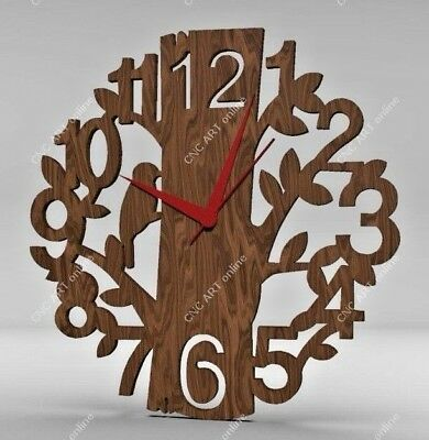 Nice clock design DXF and EPS File For CNC Plasma, Router, laser (C35)