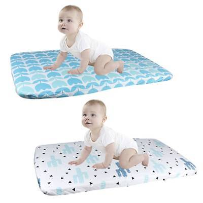 Cartoon Soft Cotton Toddler Infant Baby Crib Cot Bed Knit Fitted Sheet Covers