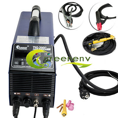 220v or 110v 200AMP DC Inverter TIG MMA Welder Welding Machine Stainless Steel