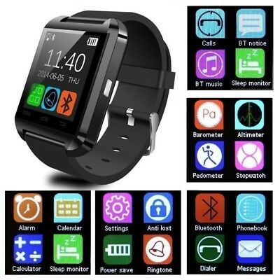 U8 Reloj inteligente Bluetooth Phone Mate Para iPhone Samsung Android