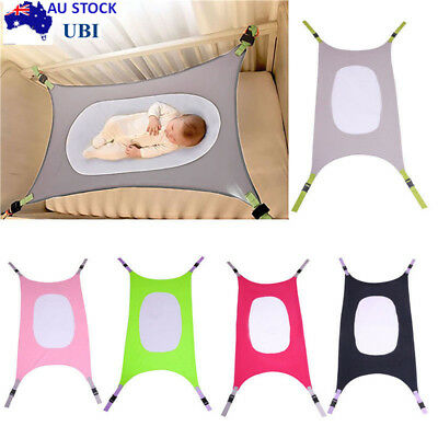 AU Baby Hammock Newborn Infant Bed Cot Elastic Detachable Security Crib Comfort