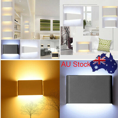 14W Modern LED Wall Light Up Down Cuboid Indoor Outdoor Sconce Lighting Lamp AU