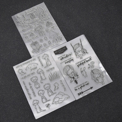 Cute Monkey Groundhog Girl Stamp DIY Clear Transparent Card Silicone Stamp Craft