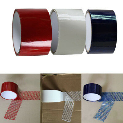 "New 1 ROLL 2"" X 55 Yards Blue Red Tamper Evident Tape Security Seal Box Packing"