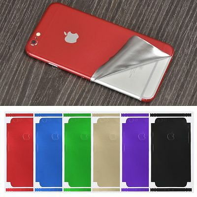 Luxury Film Wrap Decal Skin Case Sticker PVC Back Cover For iPhone X 8/7/6s Plus