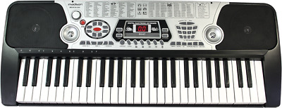 Synthetiseur  Clavier Electronique D'apprentissage 54 Touches  Micro Filaire Rec