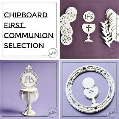 Chalice & Host First Communion Ornaments Chipboard Shapes Cardmaking Papercraft