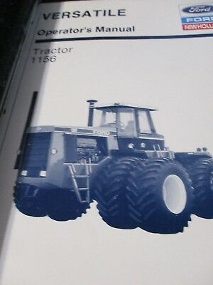 Versatile 1156 Tractor Operator's and Service Manuals