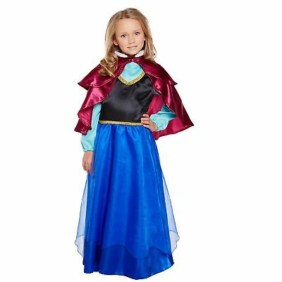 Ice Princess Children Fancy Dress Costume Frozen Movie World Book Day Week Girls
