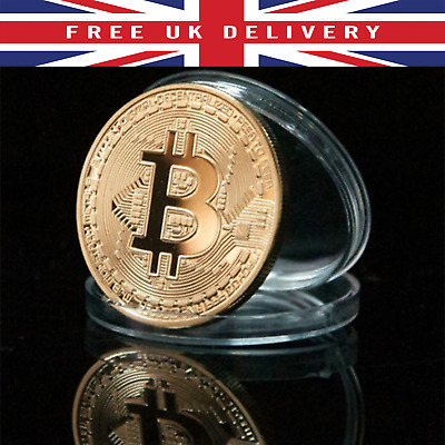Bitcoin Coin GOLD in Capsule Collectible Gift Physical BTC Collection UK SELLER