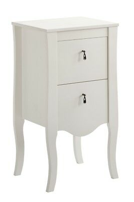 Solid Wooden Pine White French Style Low Unit Cabinet Cupboards