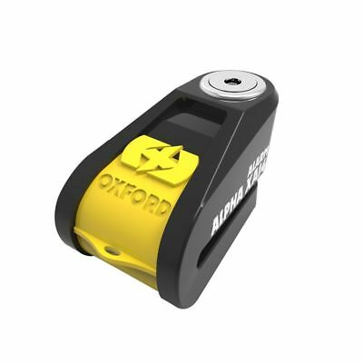 Oxford Alpha XA14 Motorcycle Disc Lock Alarm 14mm Pin Sold Secure Black Yellow