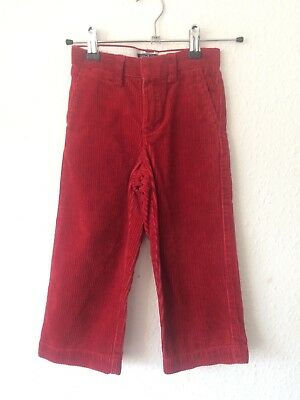 Vintage Kids Designer Ralph Lauren 90s Classic Arts Crafts Smart Red Cords 3-4 Y