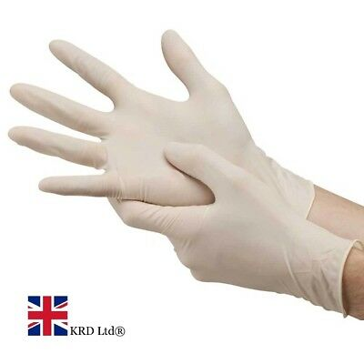 18Pc DISPOSABLE LATEX GLOVES Cleaning Gardening Rubber One Size Glove Pairs UK