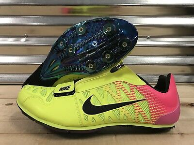 separation shoes eee27 0c850 Nike Zoom LJ4 Track and Field Spikes Long Jump Spikes Volt Pink SZ (415339-